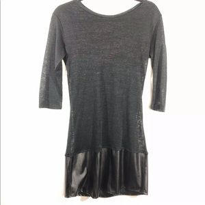 Wells Grace Size Medium Sheer Black Tunic Dress